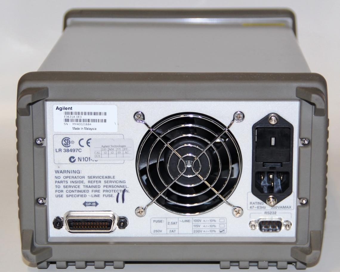 Agilent E3631a Triple Output Dc Power Supply 0 6v 5a And 25v 1a Print
