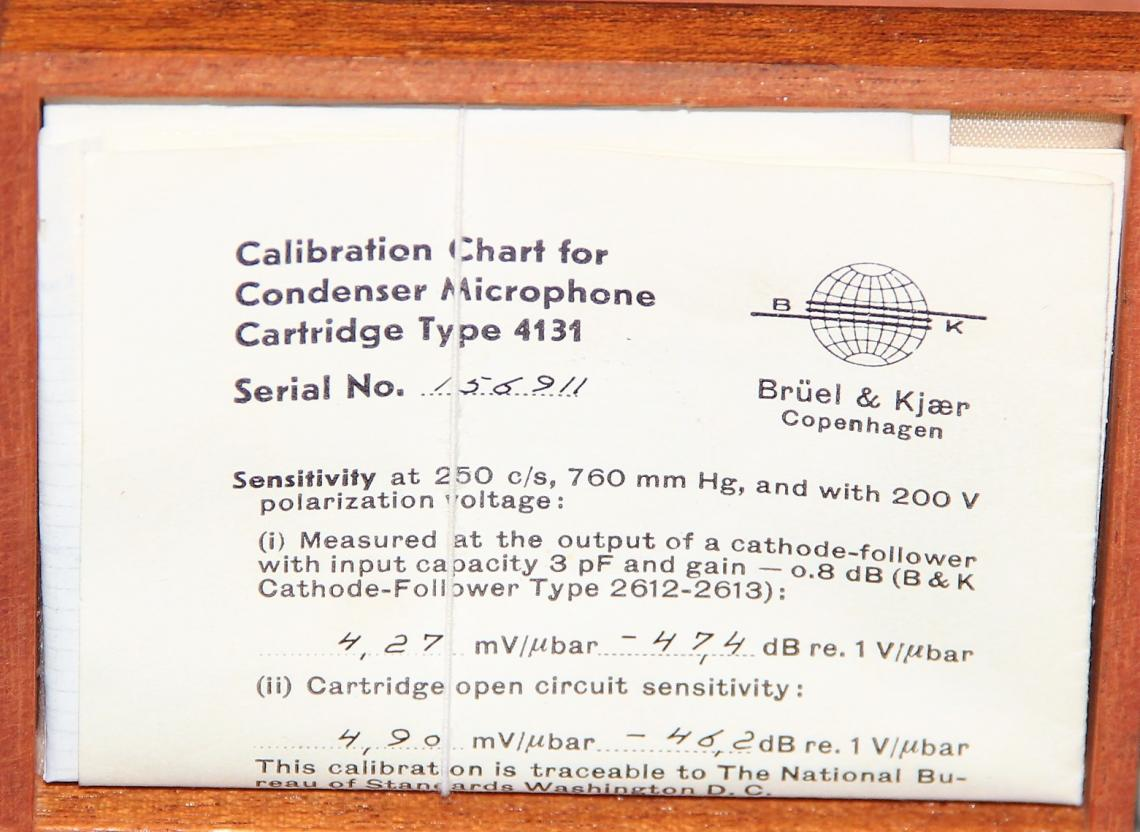 Bruel Kjaer 2627 Pre Amplifier With Condenser Microphone Type 4131 Mic Downloads Microphones