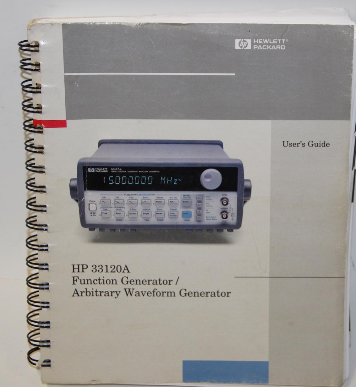 hp 33120a function arbitrary waveform generator 15 mhz rh woutersenwouters be Agilent 33120A Back Hewlett-Packard 33120A