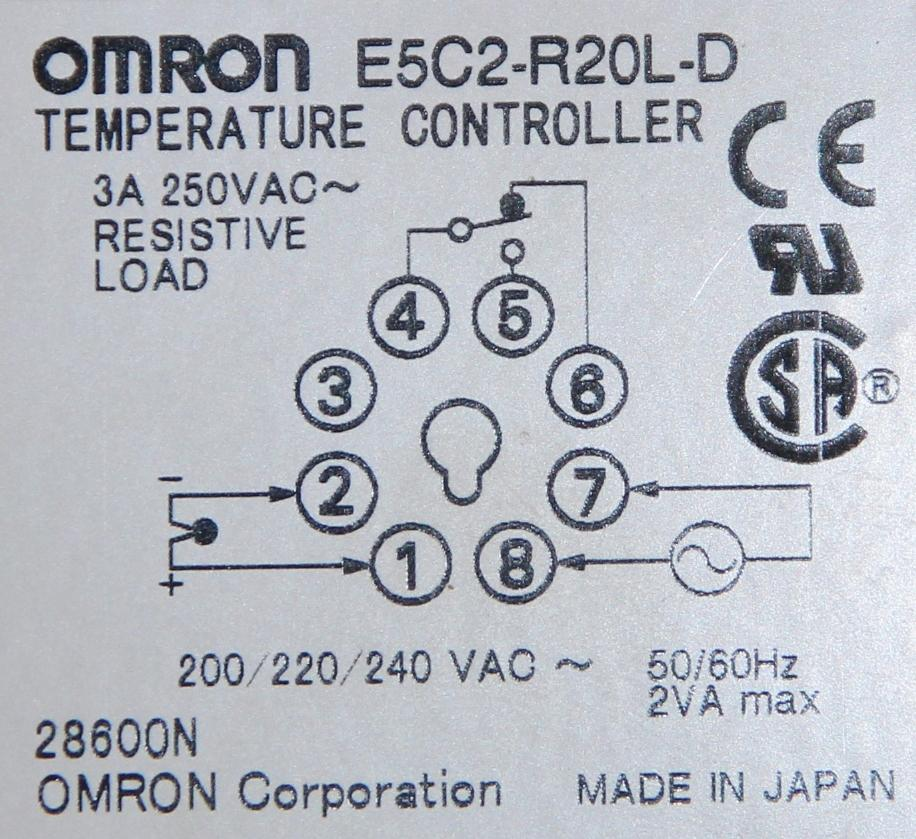 Omron E5C2-R20L-D Temperature Controller with Finder 90.20 socket on ups wiring diagram, switches wiring diagram, starter wiring diagram, transformer wiring diagram, 3 pin ac power plug wiring diagram, heater wiring diagram, compressor wiring diagram, hmi wiring diagram, pump wiring diagram, temperature controller schematic, timer wiring diagram, motor wiring diagram, pressure switch wiring diagram, power meter wiring diagram, control wiring diagram, rtd wiring diagram, temperature sensor circuit diagram, condenser wiring diagram, actuator wiring diagram, power supply wiring diagram,
